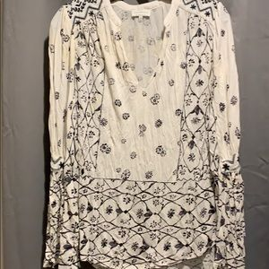 Lucky brand tunic, bell sleeves